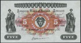 Nordirland / Northern Ireland P.052d 5 Pounds 1958 (1-)