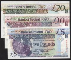 Nordirland / Northern Ireland P.070-072a 5-20 Pounds 1990/91 Bank of Ireland (1)