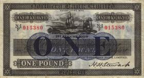 Nordirland / Northern Ireland, Northern Bank P.178a 1 Pound 1.8.1929 (3+)