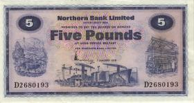 Nordirland / Northern Ireland, Northern Bank P.188b 5 Pounds 1976 (2)