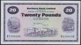 Nordirland / Northern Ireland P.190c 20 Pounds 1987 (1)