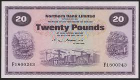 Nordirland / Northern Ireland, Northern Bank P.190d 20 Pounds 1988 (1)