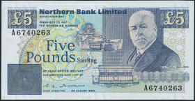 Nordirland / Northern Ireland P.193a 5 Pounds 1989 (1)