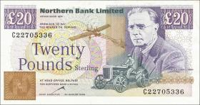 Nordirland / Northern Ireland P.195c 20 Pounds 1996 (1-)