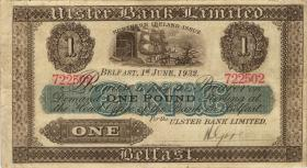 Nordirland / Northern Ireland, Northern Bank P.306 1 Pound 1934 (3+)
