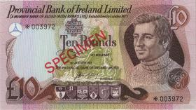 Nordirland / Northern Ireland P.CS2 10 Pounds 1977 Specimen (1) * Serie Typ I