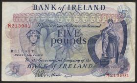 Nordirland / Northern Ireland, Bank of Ireland P.057a 5 Pounds (1967) (3)
