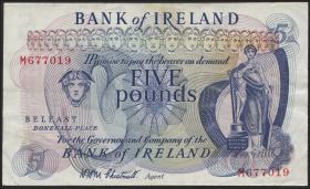 Nordirland / Northern Ireland, Bank of Ireland P.057b 5 Pounds (1968) (3)
