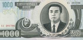 Nordkorea / North Korea P.45b 1000 Won 2006 (1)