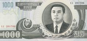 Nordkorea / North Korea P.45a 1000 Won 2002 (1)