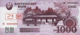Nordkorea / North Korea P.64s 1000 Won 2008 Specimen (1)
