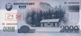 Nordkorea / North Korea P.65s 2000 Won 2008 Specimen (1)