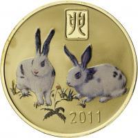 Nordkorea 20 Won 2011 Jahr des Hasen