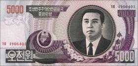 Nordkorea / North Korea P.46c 5000 Won 2006 (1)