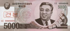Nordkorea / North Korea P.66s 5000 Won 2008 Specimen (1)