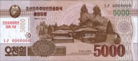 Nordkorea / North Korea P.Neu 5000 Won 2013 Gedenkbanknote (1)