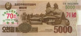Nordkorea / North Korea P.neu 5000 Won 2019 (1)