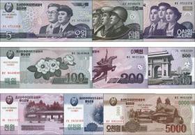 Nordkorea / North Korea P.CS 9/17 5 - 5000 Won 2002 (2014) (1)
