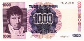 Norwegen / Norway P.45b 1000 Kronen 1998 (1)