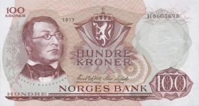 Norwegen / Norway P.38h 100 Kronen 1977 (1)