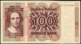Norwegen / Norway P.41a 100 Kronen 1977 (2)
