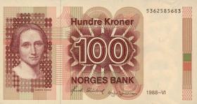 Norwegen / Norway P.43d 100 Kronen 1988 (1)