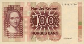 Norwegen / Norway P.43d 100 Kronen 1993 (1)