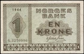 Norwegen / Norway P.15a 1 Krone 1944 (1)