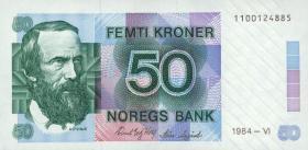 Norwegen / Norway P.42a 50 Kronen 1984 (1)