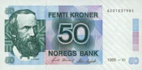 Norwegen / Norway P.42b 50 Kronen 1985 (1)