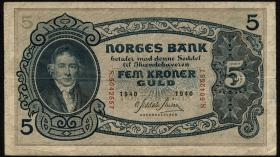 Norwegen / Norway P.07c 5 Kronen 1940 (3)