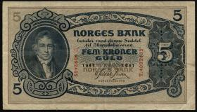 Norwegen / Norway P.07c 5 Kronen 1941 (3)