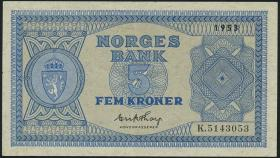 Norwegen / Norway P.25d 5 Kronen 1953 (2)