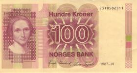 Norwegen / Norway P.43c 100 Kronen 1987 (2)