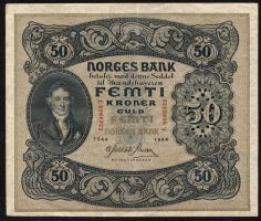 Norwegen / Norway P.09d 50 Kronen 1944 (2)