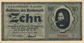 Notgeld Aalen 10 Reichsmark 19.4.1945 (1)