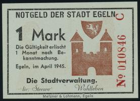Notgeld Egeln (Provinz Sachsen) 1 - 20 Mark 1945 C (1)