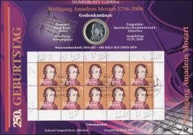 2006/1 Mozart - Numisblatt