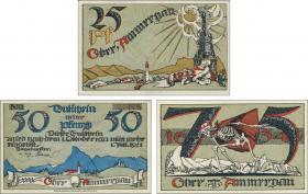 Notgeld Oberammergau 25-50-75 Pfennig 1922 (1)