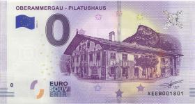 0 Euro Souvenir Schein Oberammergau -  Pilatushaus (1)