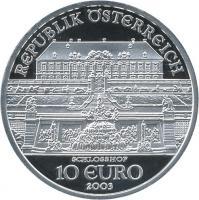 Österreich 10 Euro 2003 Schloß Hof PP