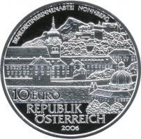 Österreich 10 Euro 2006 Abtei Nonnberg, PP