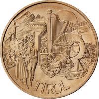 Österreich 10 Euro 2014 Tirol Kupfer