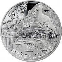 Österreich 10 Euro 2015 Burgenland Silber PP