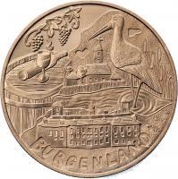 Österreich 10 Euro 2015 Burgenland Kupfer