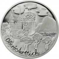 Österreich 10 Euro 2016 Oberösterreich Silber PP