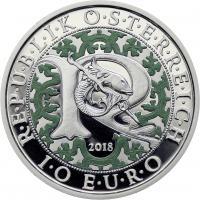 Österreich 10 Euro 2018 Raphael - Der Heilungsengel Silber PP