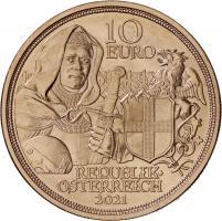 Österreich 10 Euro 2021 Brüderlichkeit prfr