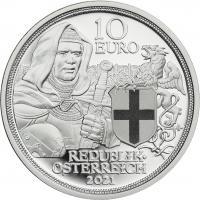 Österreich 10 Euro 2021 Brüderlichkeit Silber PP
