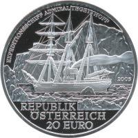 Österreich 20 Euro 2005 Admiral Tegetthoff
